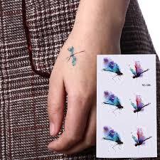 Dragonfly Bee Insect Waterproof Temporary Tattoo Men Harajuku Flash Tattoo Sticker Tatoo Sleeves Fake Tatto Faux Tatouage Espada