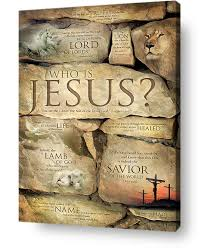 >who is jesus names of jesus wall art canvas print paradise  christian wall art decor who is jesus names of jesus