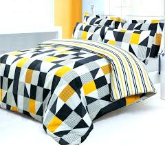 black white and yellow duvet cover covers grey trendy striped stripe twin