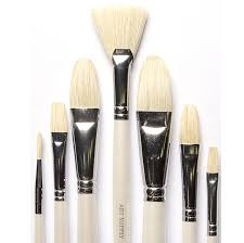 14 piece artist brush set handmade superior quality 7 natural bristle and 6 synthetic brushes no shedding for oil acrylic and watercolour