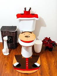 toilets bathroom toilet seat covers cover home design garden architecture and rug set reindeer snowman
