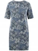 <b>Платье прямого силуэта</b> с коротким рукавом (черный) - купить ...