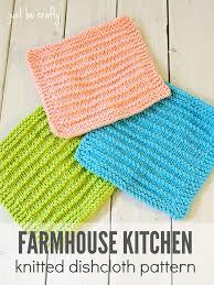 Easy Knit Dishcloth Pattern Interesting Knitted Dishcloth Pattern PDF Download Farmhouse Kitchen