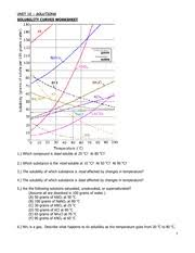 Solubility Chart Worksheet 3 Reading A Solubility Chart 1