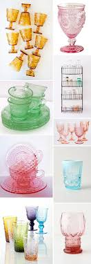 collections of colorful vintage glassware sfgirlbybay
