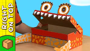 Decorated Shoe Box Ideas Crafts Ideas for Kids Shoebox Monster DIY on BoxYourSelf YouTube 36