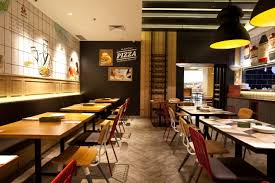 Modern Japanese Italian restaurant that caters to the mass market. The  concept is a blend between modern European design and Japanese chic.