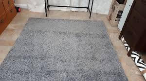 2 ikea rugs hampen 160x230 80x80 grey high pile