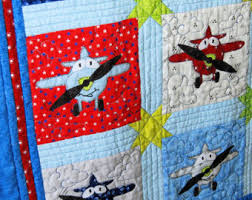 Applique baby quilt | Etsy & Airplane Applique Baby Quilt PDF Pattern, Instant Download Adamdwight.com