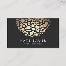 Modern Black And Gold Event Planner Business Card Zazzle Co Uk