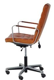 superb stylish swedish office chair by joc circa 1980 leather arms and upholstery good
