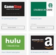 Microsoft Giftcard Use Microsoft Rewards To Score Free Amazon Or Starbucks Gift
