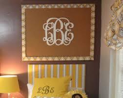 Dorm Room Decor // Wooden Monogram Wall Hanging // Dorm Room Ideas //