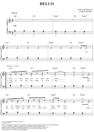 hello free piano sheet music hello sheet music music for piano and more onlinesheetmusic hello