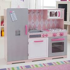 image of wooden play kitchen set