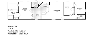 3 bedroom single wide mobile home floor plans best of 1 bedroom mobile homes floor plans