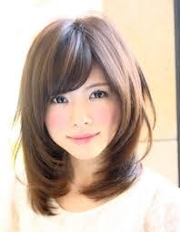 暗髪カラー小顔ミディアム髪型ke 127 ヘアカタログ髪型ヘア
