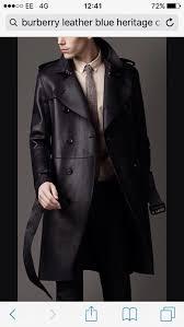 burberry men s dark blue lambskin trench coat