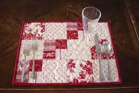Red & White Quilted Placemats, set of 4   Tablerunners and Craft & Red & White Quilted Placemats set of 4 by MagpieQuilts on Etsy, $38.00 Adamdwight.com