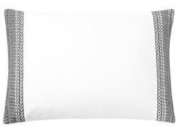 Tousignant Embroidered 100% Belgian Linen Boudoir/Breakfast Pillow ...