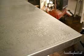 diy metal countertop sheet metal diy hammered metal countertops diy metal countertop