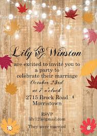 Fall And Autumn Party Invitations 2019