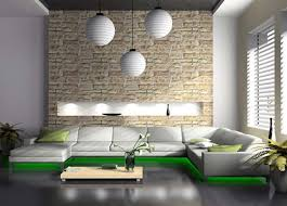 decorations contemporary white lampion living room ceiling intended for natural stone wall interior design and ideas