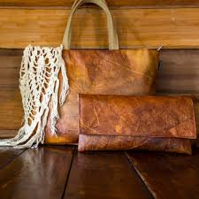 Elpis Design Eco Leather Tote Bag Brown