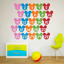 wall stickers colorful numbers