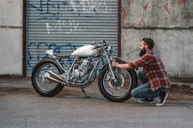 pure street yamaha scorpio cafe racer purpose built moto