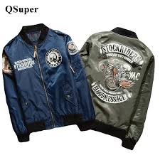 whole qsuper stockriders motorcycle luxury brand er jackets men big size baseball skull jacket men pilot ma 1 jackets xs 5xl team jackets leather
