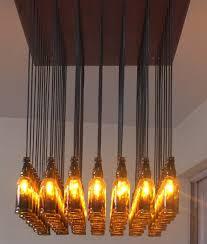 customizable beer bottle chandelier pendant light fixture made from