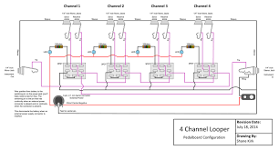 diy guitar fx 4 channel audio looper shanekirk com i looked around at various schematics online and ultimately created one tailored to my own needs below is a completely unoriginal schematic i drew based on