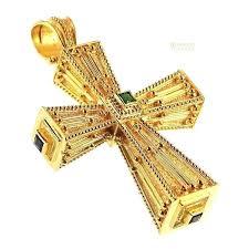 squared imperial orthodox cross greek necklace ukrainian jewelry