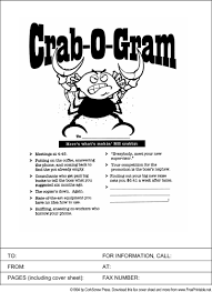 Crabby Fax Cover Sheet