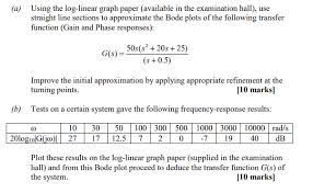 Solved Using The Log Linear Graph Paper Available In The