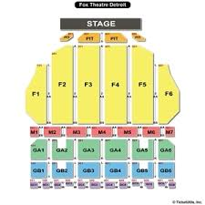 Fox Theatre Detroit Seating Chart Pdf Fox Theatre Seating Chart Rational Seating At The Fox
