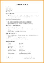 7 Simple Job Resume Template Incidental Report