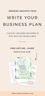 Basic Business Plan Outline Free Wedding Planner Business Plan Template