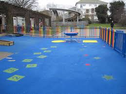 blue wetpour playground flooring