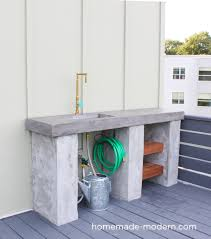 this diy outdoor kitchen with concrete countertop is convenient for your deck patio or outdoor