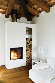 Cozy Fireplaces by Diana Budds from A Renovated Farmhouse in Northern