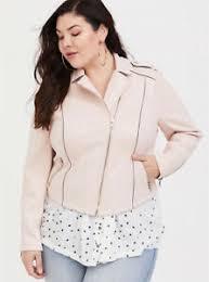 Details About Torrid Womens Pink Blush Mauve Suede Moto Jacket Coat Plus Size 4 26
