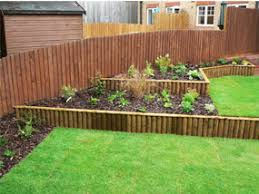 Small Picture sloping garden design garden completed borders Sloping garden