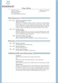 Resume Format 2015 Resume And Cover Letter Resume And Cover Letter