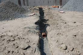 this is a process called sand bedding usually applied during embedding pipes to secure slope and protection of pipe during back filling of earth fills
