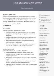 Cosmetology Sample Resume Hair Stylist Resume Sample Writing Guide Rg