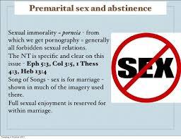 Bible passage about premartial sex