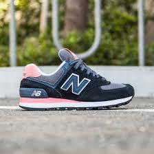 new balance 574 black. new balance women 574 wl574cpl (black / guava grey) black