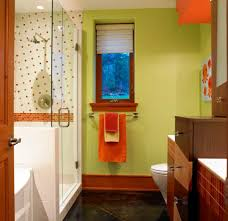 View in gallery Colorful and stylish kids bathroom with accents of natural  wood